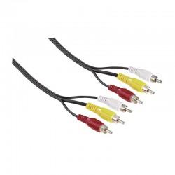 Câble vidéo 3RCA HAMA 2m