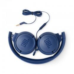 JBL T500 Filaire Bleu
